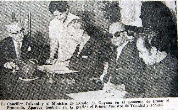 firma del protocolo de Pto España