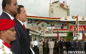 Chávez en Guyana
