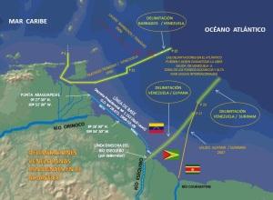 delimitaciones pendientes de Venezuela en las guayanas