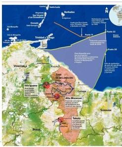 ZONA DISPONIBLE PARA DESARROLLAR ZEE GUYANA ESEQUIBO VENEZUELA